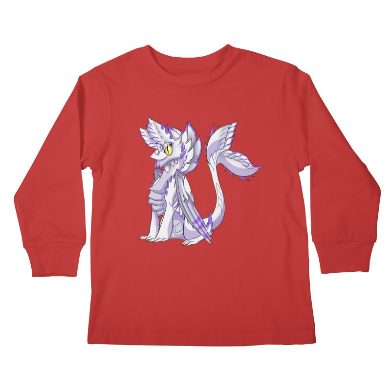 Ivory Shadow Kids Longsleeve T-Shirt by AdeptGamer's Merchandise