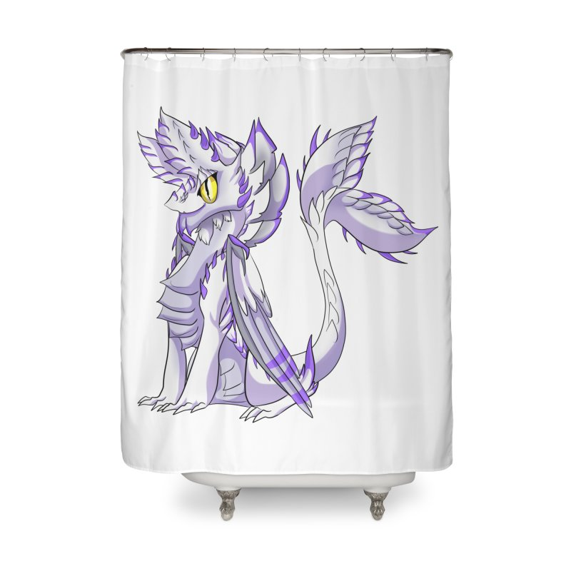 Ivory Shadow Home Shower Curtain by AdeptGamer's Merchandise