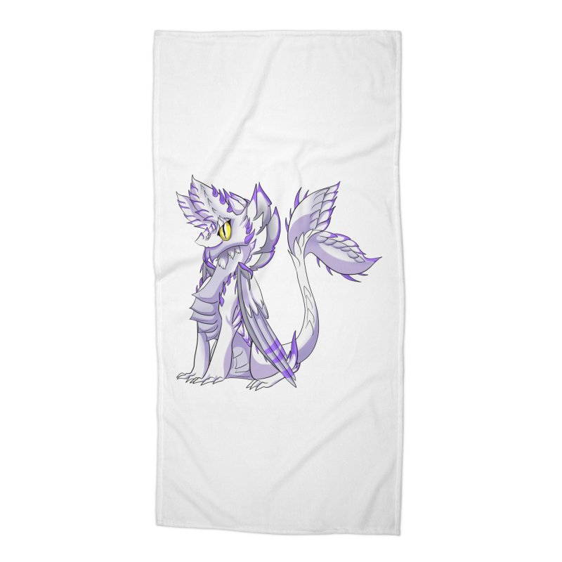 Ivory Shadow Accessories Beach Towel by AdeptGamer's Merchandise