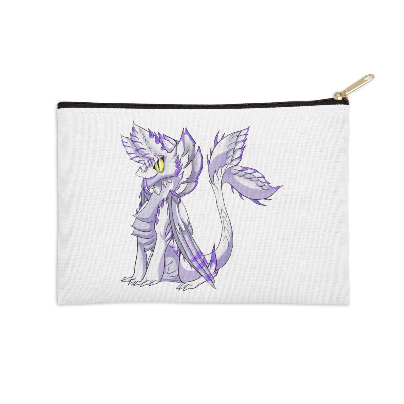 Ivory Shadow Accessories Zip Pouch by AdeptGamer's Merchandise