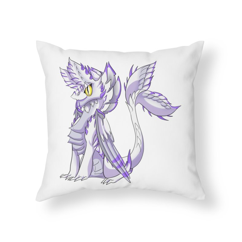 Ivory Shadow Home Throw Pillow by AdeptGamer's Merchandise