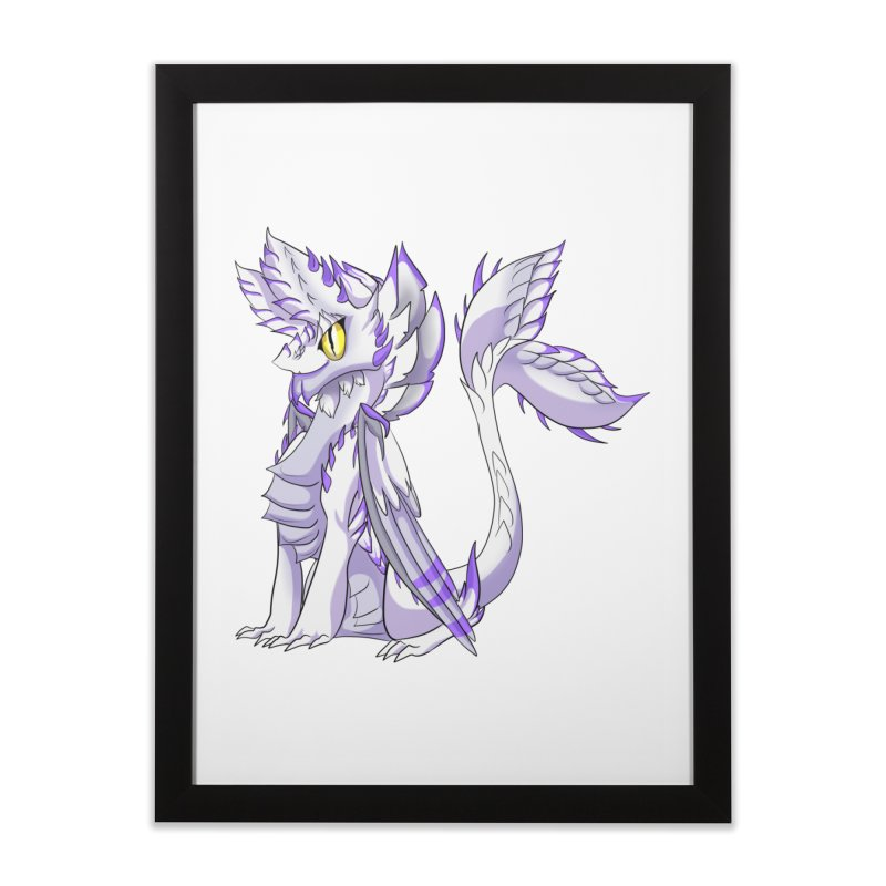 Ivory Shadow Home Framed Fine Art Print by AdeptGamer's Merchandise