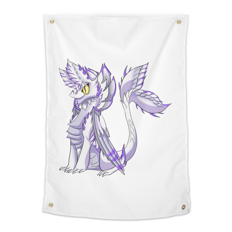 Ivory Shadow Home Tapestry by AdeptGamer's Merchandise