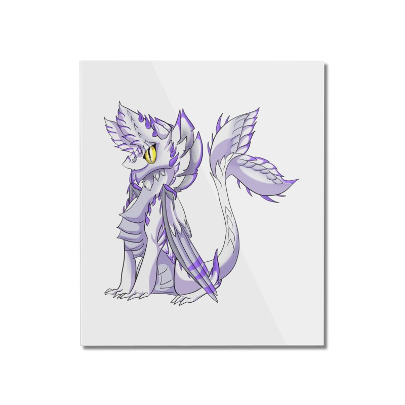 Ivory Shadow Home Mounted Acrylic Print by AdeptGamer's Merchandise