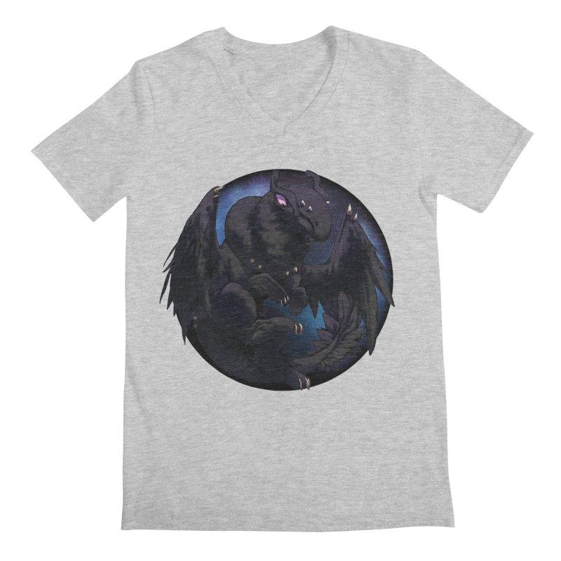 Fleeting Darkness Snowglobe Men's Regular V-Neck by AdeptGamer's Merchandise