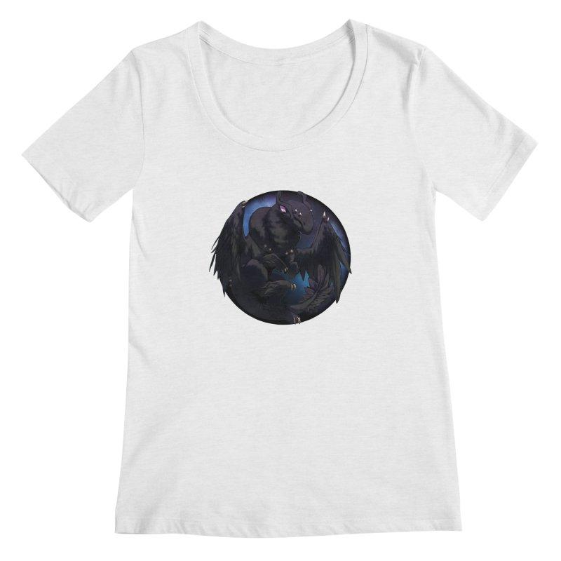 Fleeting Darkness Snowglobe Women's Regular Scoop Neck by AdeptGamer's Merchandise