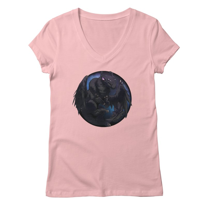 Fleeting Darkness Snowglobe Women's Regular V-Neck by AdeptGamer's Merchandise