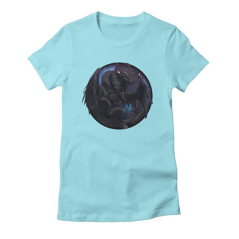 Fleeting Darkness Snowglobe Women's Fitted T-Shirt by AdeptGamer's Merchandise