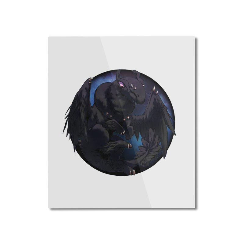 Fleeting Darkness Snowglobe Home Mounted Aluminum Print by AdeptGamer's Merchandise