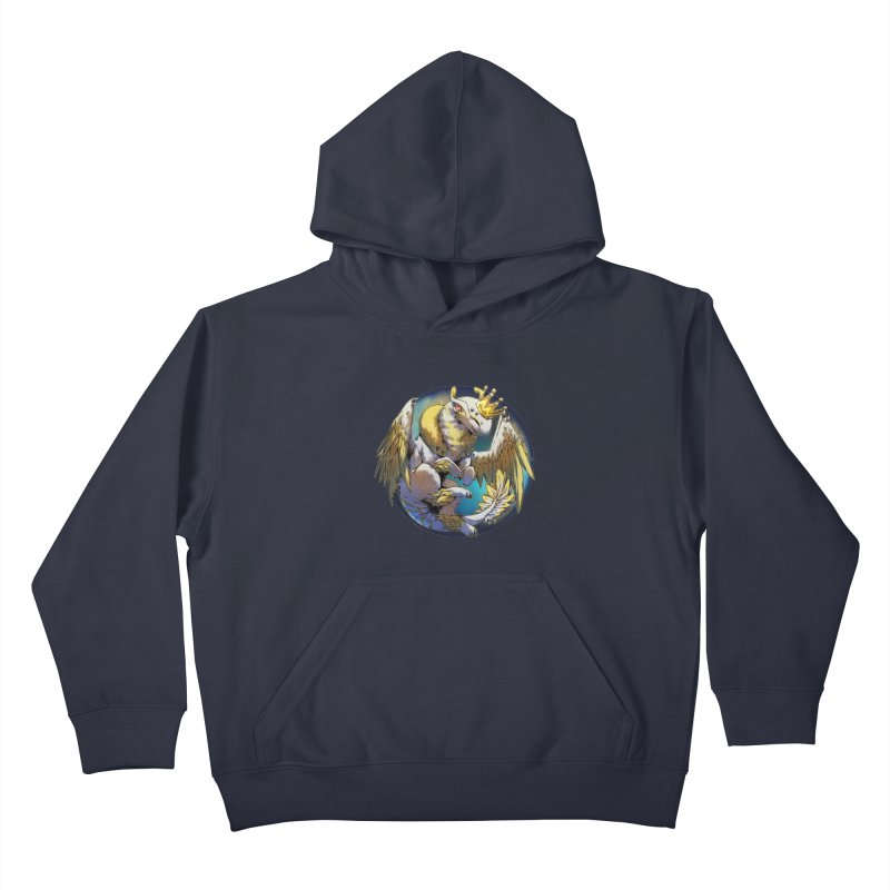 Whirlmoon Snowglobe Kids Pullover Hoody by AdeptGamer's Merchandise
