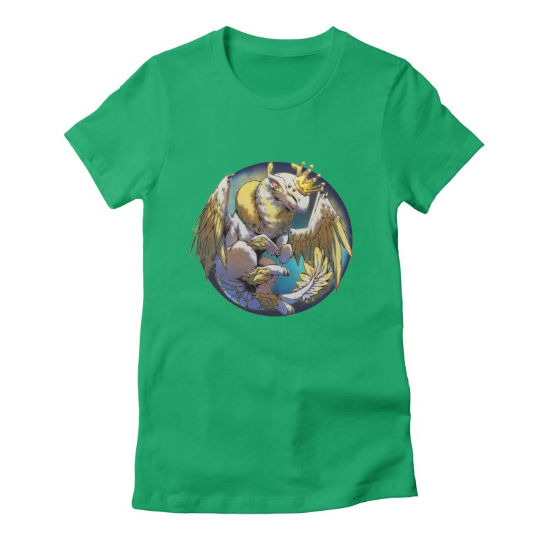 Whirlmoon Snowglobe Women's Fitted T-Shirt by AdeptGamer's Merchandise