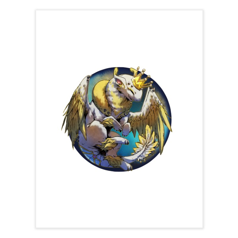 Whirlmoon Snowglobe Home Fine Art Print by AdeptGamer's Merchandise