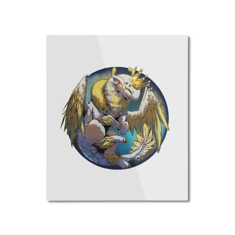 Whirlmoon Snowglobe Home Mounted Aluminum Print by AdeptGamer's Merchandise