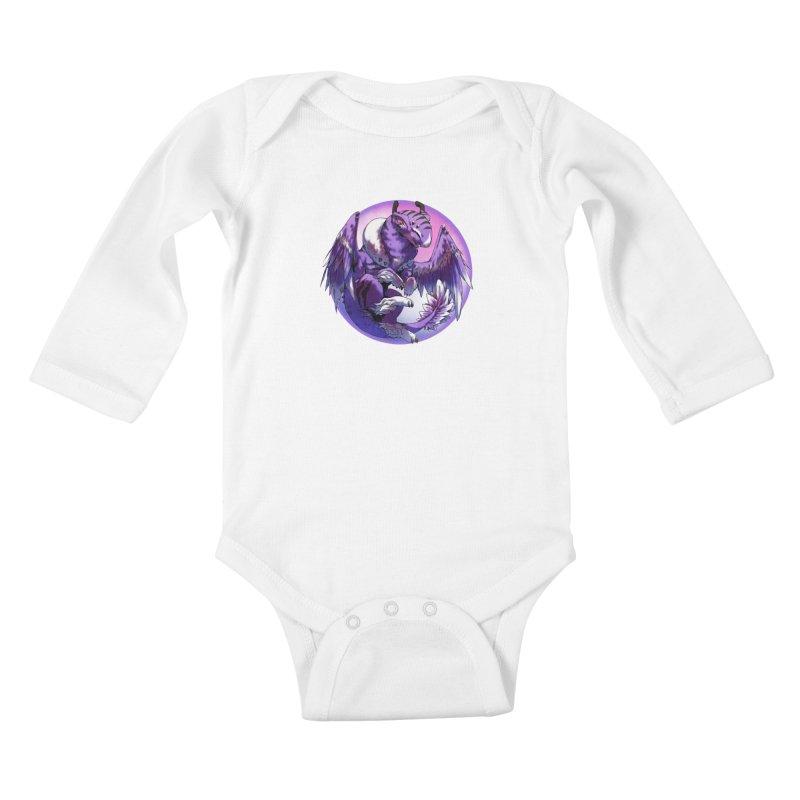 Fleeting Dream Snowglobe Kids Baby Longsleeve Bodysuit by AdeptGamer's Merchandise