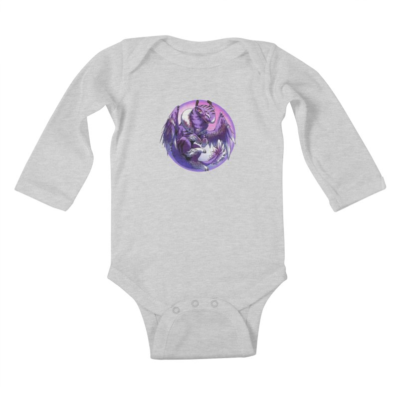 Fleeting Dream Snowglobe Kids Baby Longsleeve Bodysuit by AdeptGamer's Merchandise