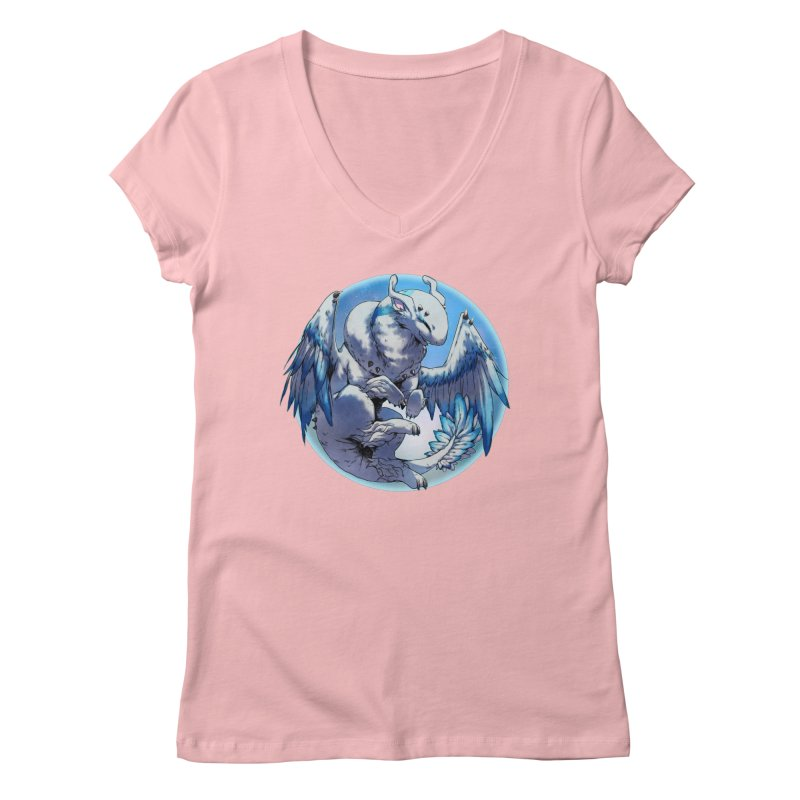FroYo Snowglobe Women's Regular V-Neck by AdeptGamer's Merchandise