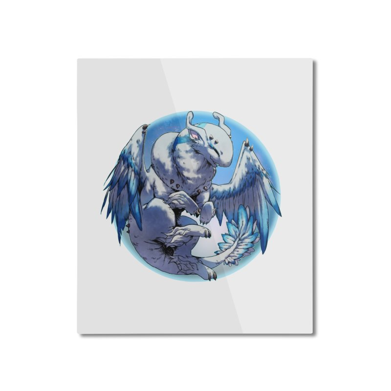 FroYo Snowglobe Home Mounted Aluminum Print by AdeptGamer's Merchandise