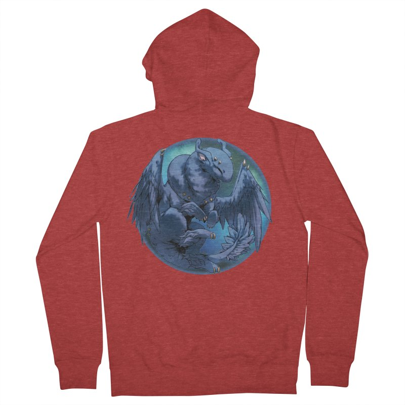 Blueberry Snowglobe Men's French Terry Zip-Up Hoody by AdeptGamer's Merchandise
