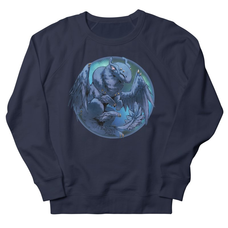Blueberry Snowglobe Men's French Terry Sweatshirt by AdeptGamer's Merchandise