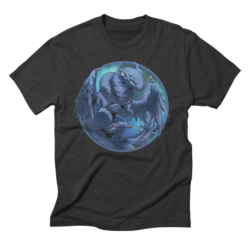 Blueberry Snowglobe Men's Triblend T-Shirt by AdeptGamer's Merchandise