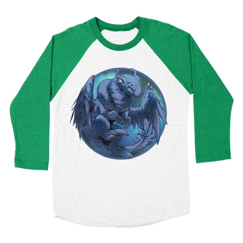 Blueberry Snowglobe Women's Baseball Triblend T-Shirt by AdeptGamer's Merchandise