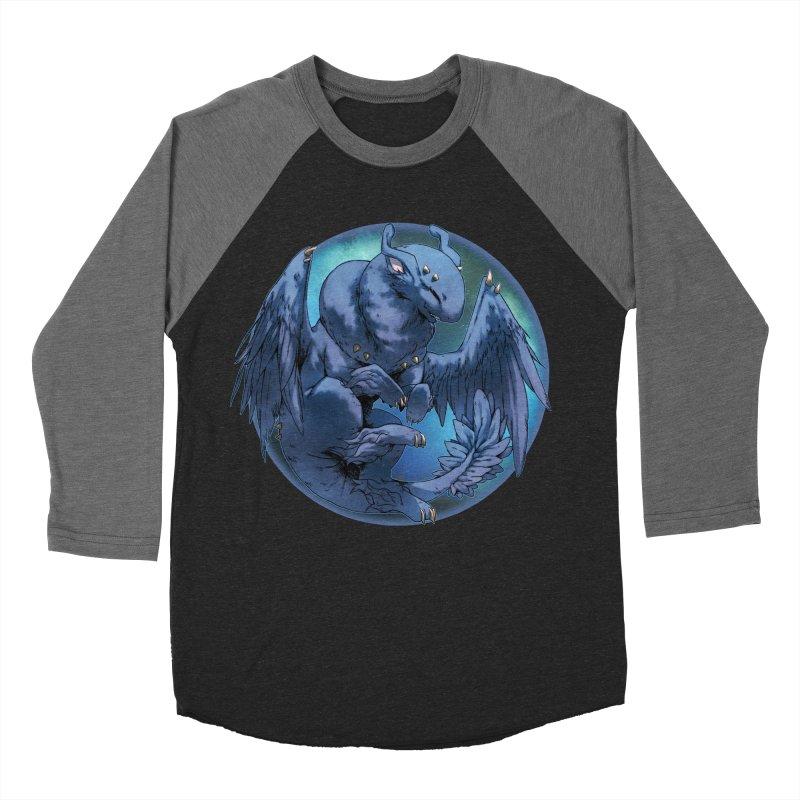 Blueberry Snowglobe Men's Baseball Triblend T-Shirt by AdeptGamer's Merchandise