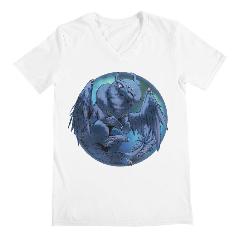 Blueberry Snowglobe Men's Regular V-Neck by AdeptGamer's Merchandise