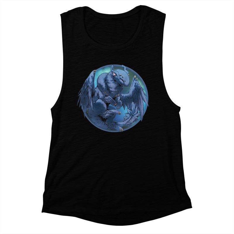 Blueberry Snowglobe Women's Muscle Tank by AdeptGamer's Merchandise
