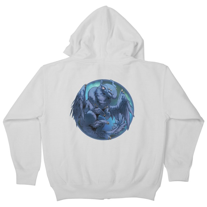 Blueberry Snowglobe Kids Zip-Up Hoody by AdeptGamer's Merchandise