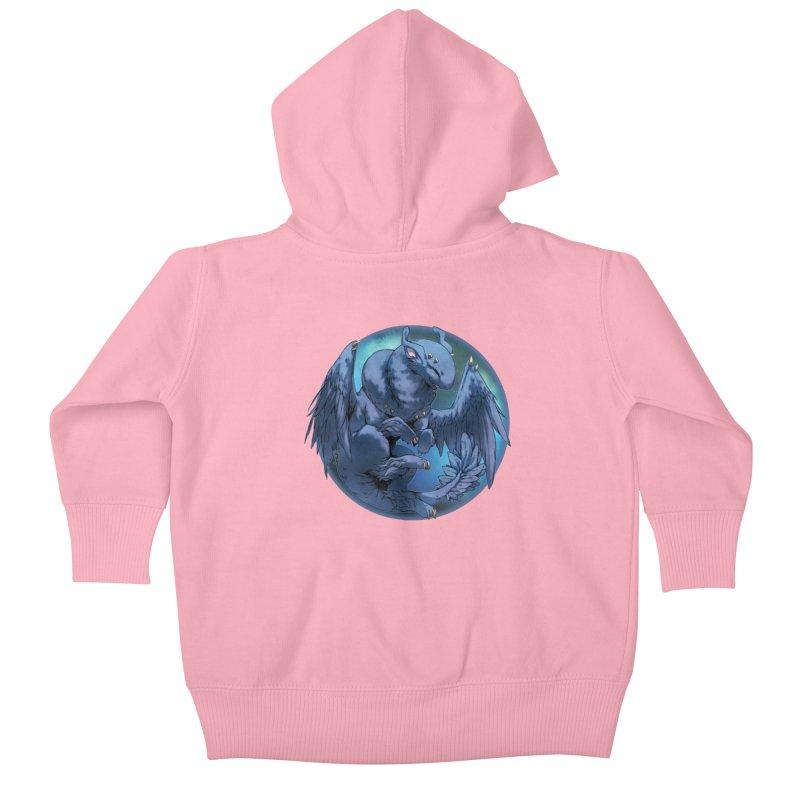Blueberry Snowglobe Kids Baby Zip-Up Hoody by AdeptGamer's Merchandise