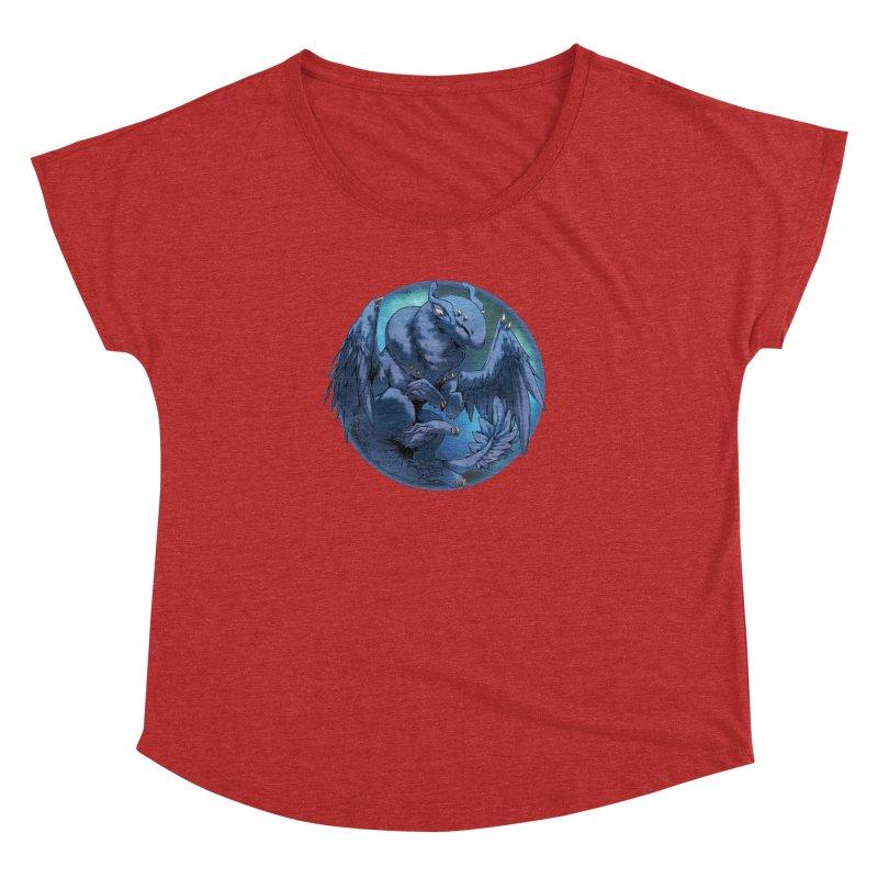 Blueberry Snowglobe Women's Dolman Scoop Neck by AdeptGamer's Merchandise