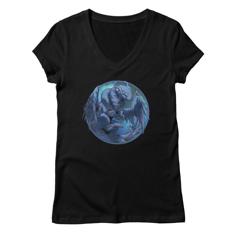 Blueberry Snowglobe Women's V-Neck by AdeptGamer's Merchandise