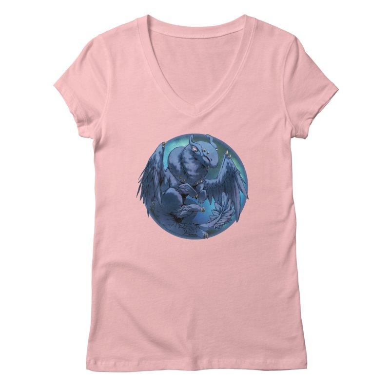 Blueberry Snowglobe Women's Regular V-Neck by AdeptGamer's Merchandise