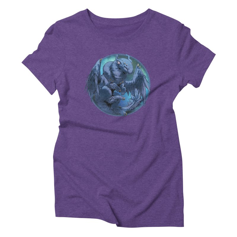 Blueberry Snowglobe Women's Triblend T-Shirt by AdeptGamer's Merchandise