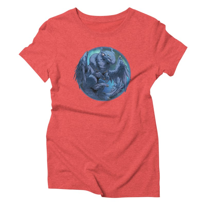 Blueberry Snowglobe Women's Triblend T-Shirt by AdeptGamer's Merchandise