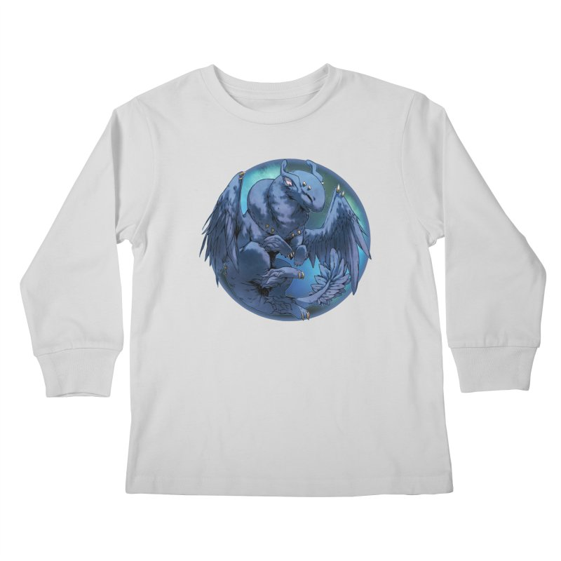 Blueberry Snowglobe Kids Longsleeve T-Shirt by AdeptGamer's Merchandise