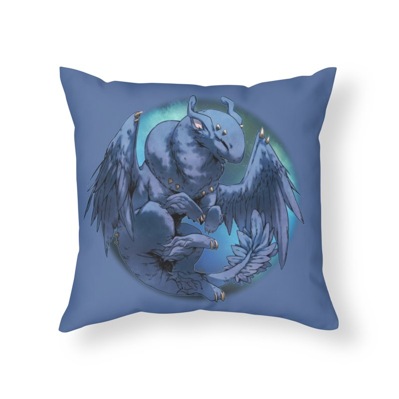 Blueberry Snowglobe Home Throw Pillow by AdeptGamer's Merchandise