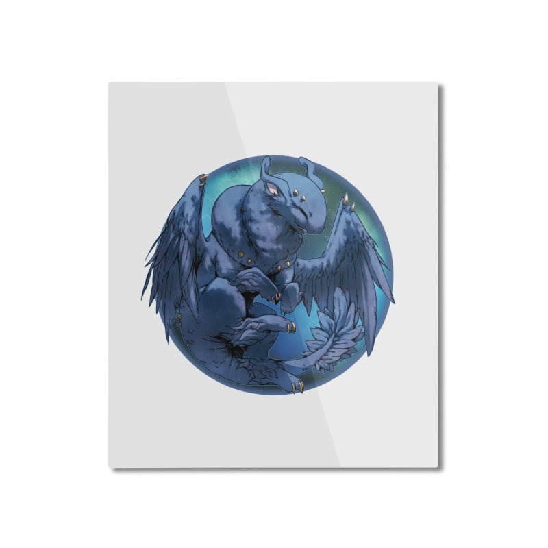 Blueberry Snowglobe Home Mounted Aluminum Print by AdeptGamer's Merchandise