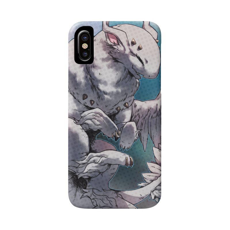 Fleeting Snow Snowglobe Accessories Phone Case by AdeptGamer's Merchandise