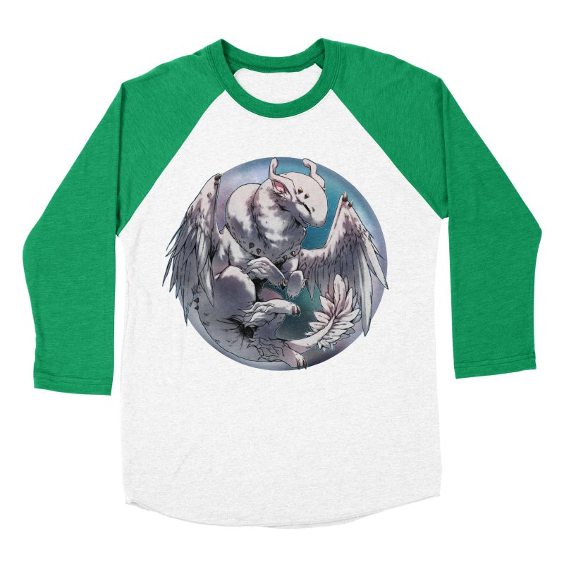 Fleeting Snow Snowglobe Men's Baseball Triblend Longsleeve T-Shirt by AdeptGamer's Merchandise