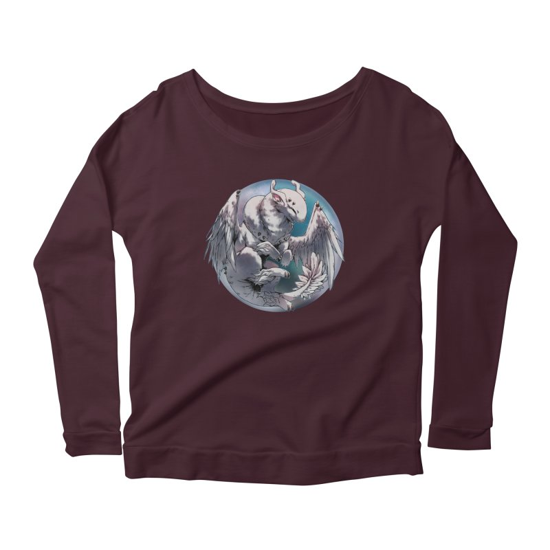Fleeting Snow Snowglobe Women's Scoop Neck Longsleeve T-Shirt by AdeptGamer's Merchandise