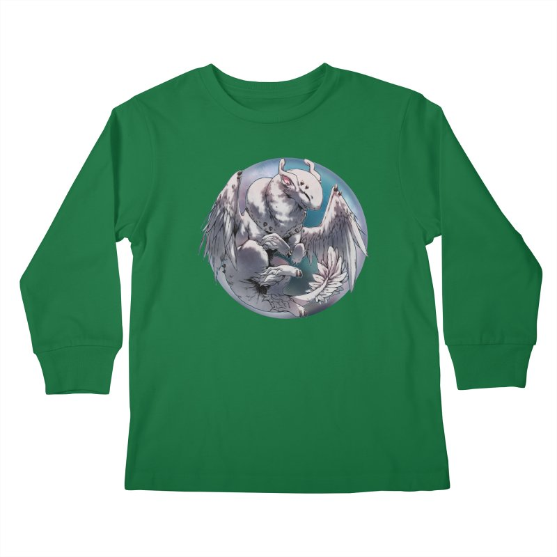 Fleeting Snow Snowglobe Kids Longsleeve T-Shirt by AdeptGamer's Merchandise