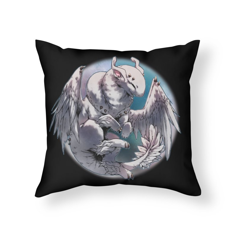 Fleeting Snow Snowglobe Home Throw Pillow by AdeptGamer's Merchandise
