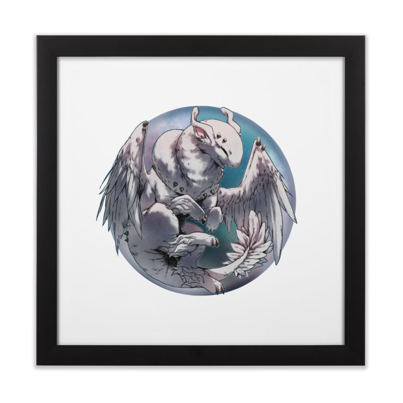 Fleeting Snow Snowglobe Home Framed Fine Art Print by AdeptGamer's Merchandise