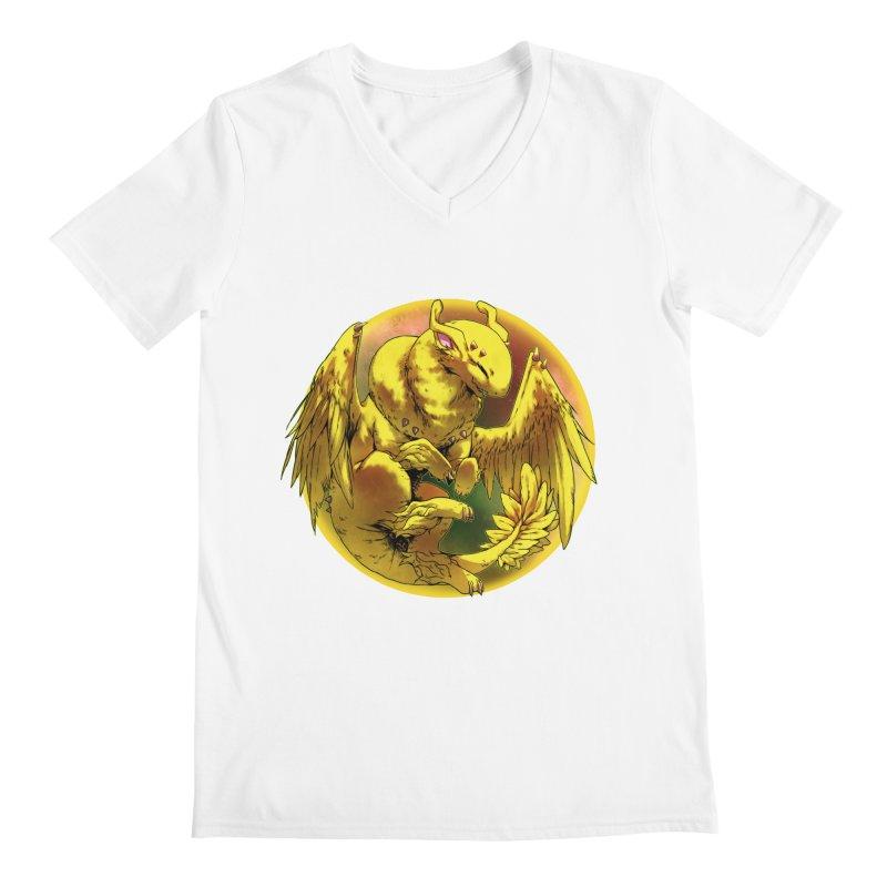 Lemon Drop Snowglobe Men's Regular V-Neck by AdeptGamer's Merchandise