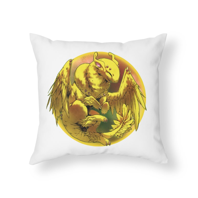 Lemon Drop Snowglobe Home Throw Pillow by AdeptGamer's Merchandise