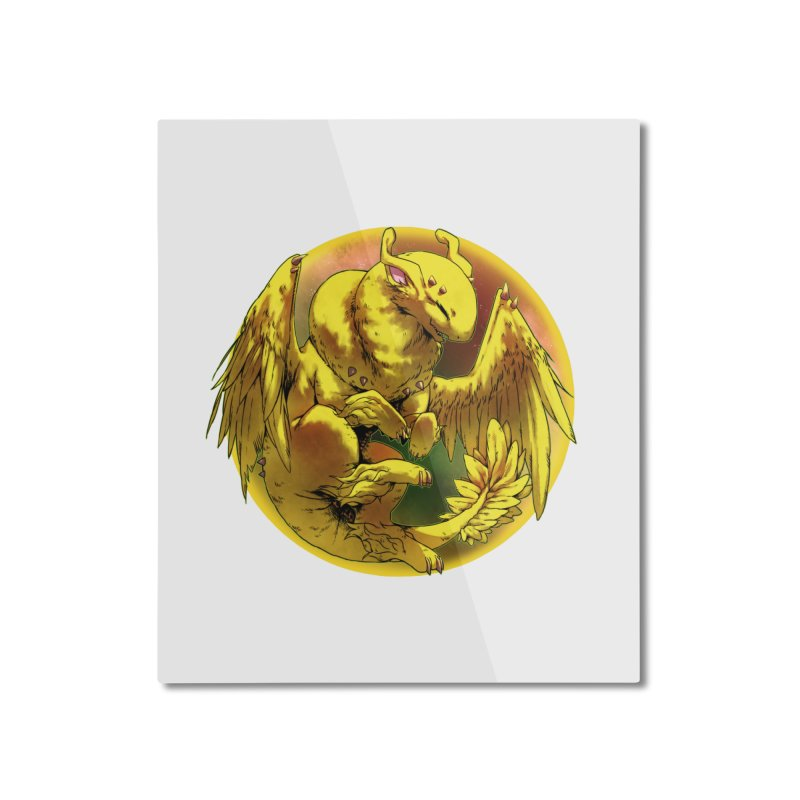 Lemon Drop Snowglobe Home Mounted Aluminum Print by AdeptGamer's Merchandise