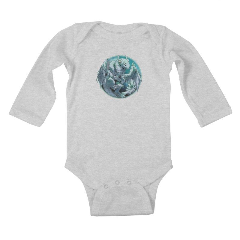 Spearmint Snowglobe Kids Baby Longsleeve Bodysuit by AdeptGamer's Merchandise