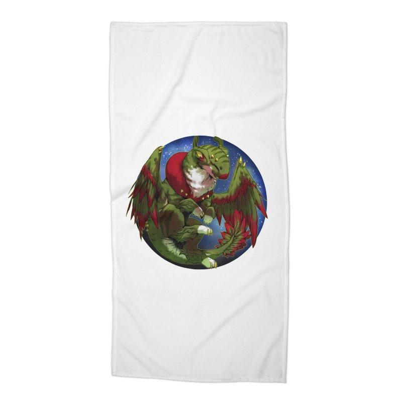 Yuletide Joy Snowglobe Accessories Beach Towel by AdeptGamer's Merchandise