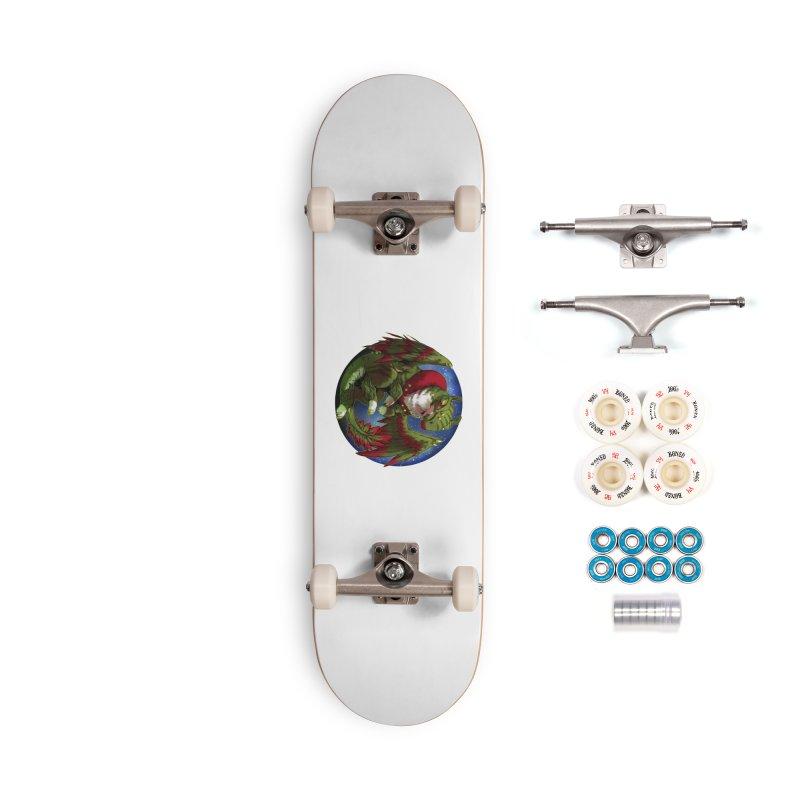 Yuletide Joy Snowglobe Accessories Complete - Premium Skateboard by AdeptGamer's Merchandise